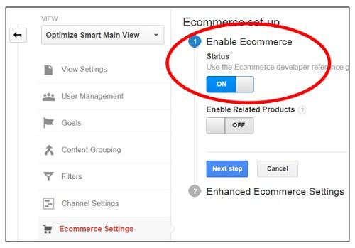 Como ativar o Analytics no Ecommeerce