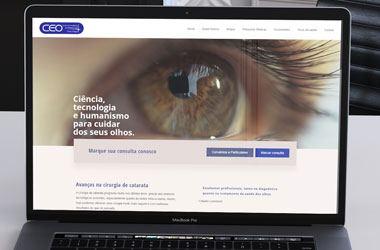 Site de clínica de olhos