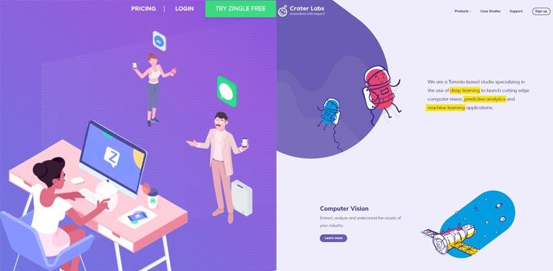 ilustrações no web design