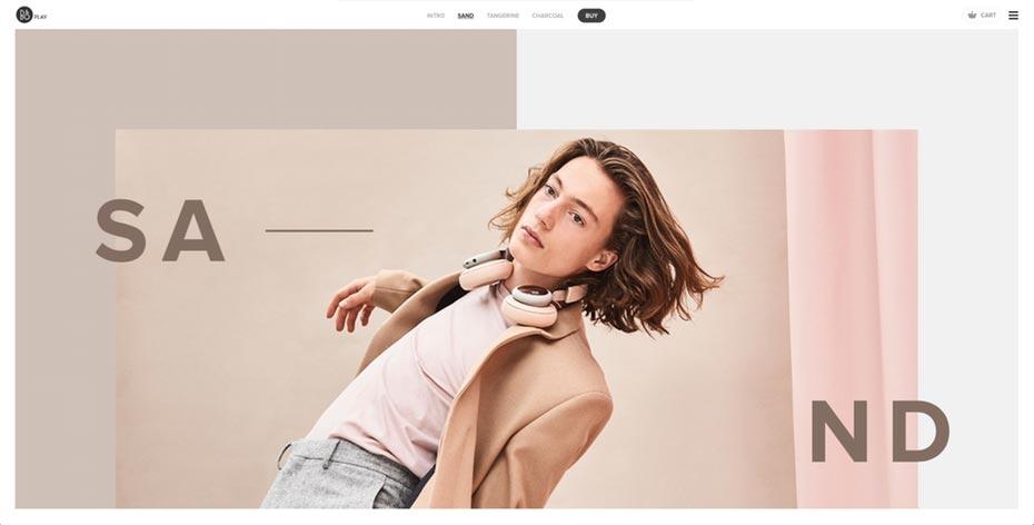 web design com layout assimétrico
