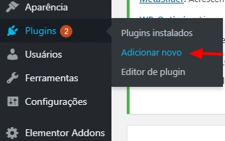 Instalando novo plugin no wordpress